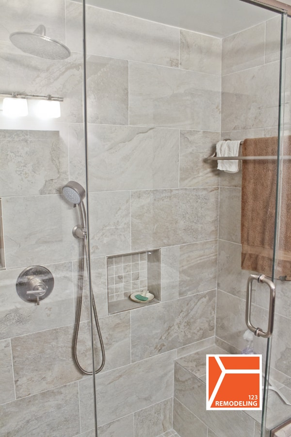 After Condo Bathroom Remodel  at 111 E Chestnut St in Magnificent Mile