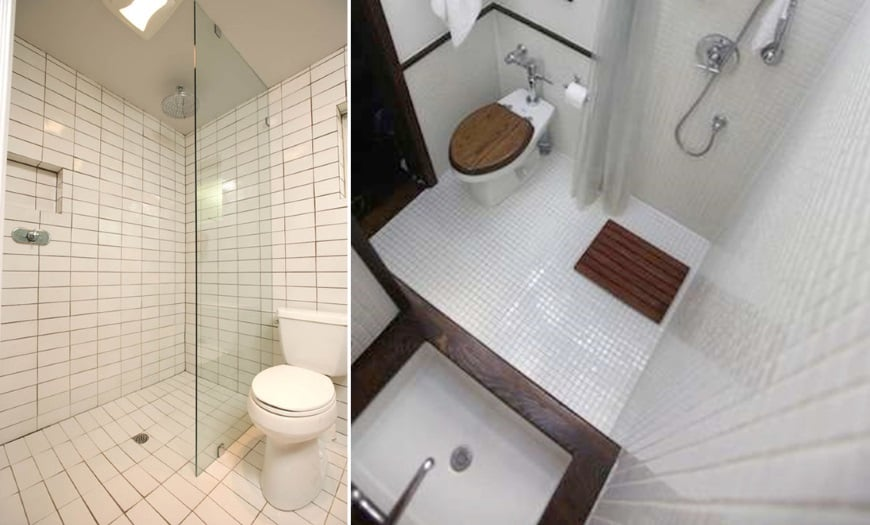creative small bathroom ideas showers