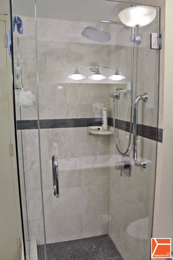 Condo Bathroom Remodel at 505 N Lake Shore Dr in Streeterville