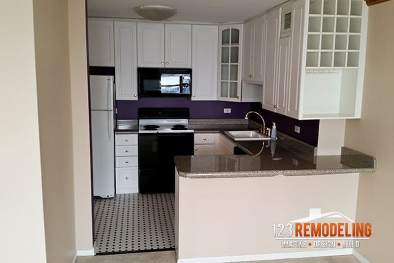 Before Condo Kitchen Remodel - 1030 N State St, Chicago, IL (Gold Coast)