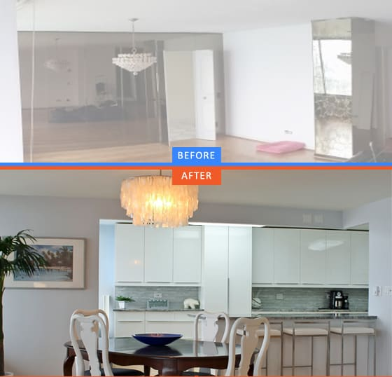 open layout kitchen remodeling
