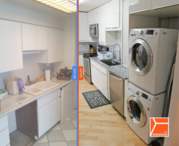 kitchen, remodeling, washer, dryer, laundry, Chicago