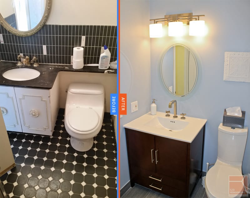 Using natural wood tone for flooring, with a bright, vivid wall color and ample lighting raising value and creating more space.