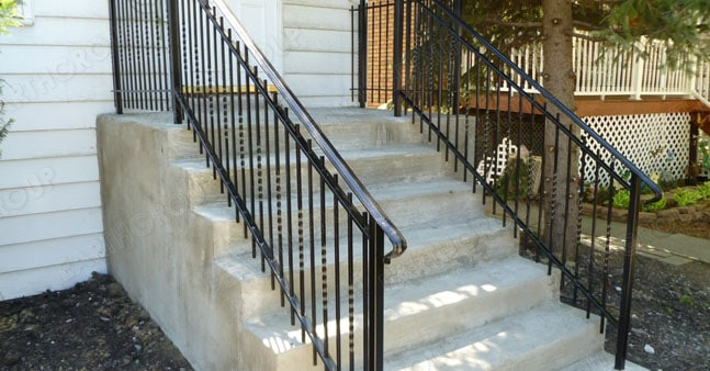 Concrete Front Staircase Construction