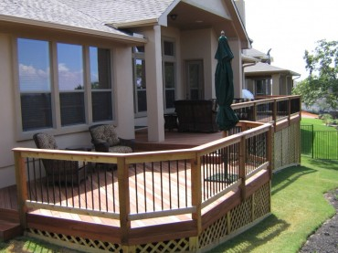 Quality Deck in Back of Residential Home