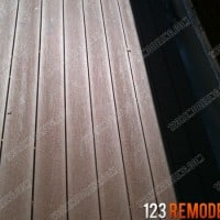 Composite decking material used in Chicago's Wicker Park
