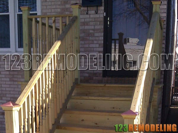 custom, staircase, exterior, remodeling