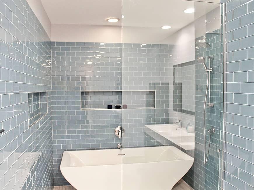 Townhouse Bathroom Remodel at 1435 S. Prairie Ave in South Loop