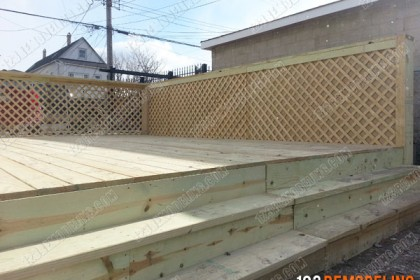 Wooden Deck Construction