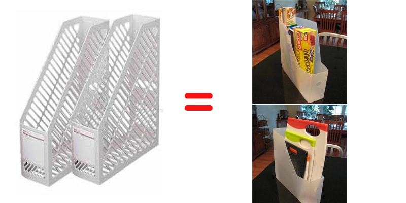magazine holder storage idea