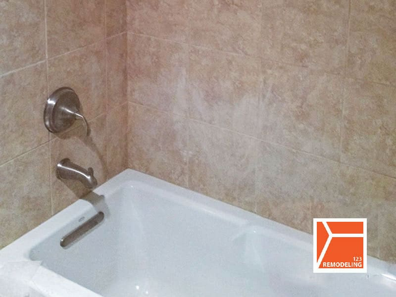 After Condo Bathroom Renovation - 655 W. Irving Park Rd, Chicago, IL (Lake View)