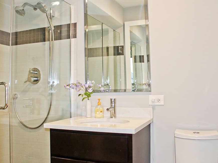 Condo Bathroom Renovation at 655 W Irving Park Rd in Lakeview