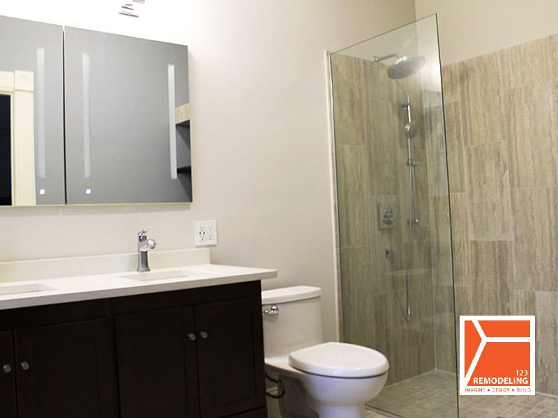 After Master Bathroom Remodel at 1513 Asbury Ave in Evanston