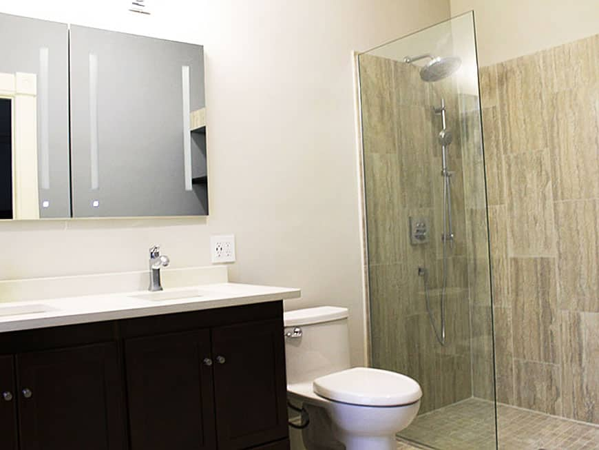Master Bathroom Remodel at 1513 Asbury Ave in Evanston