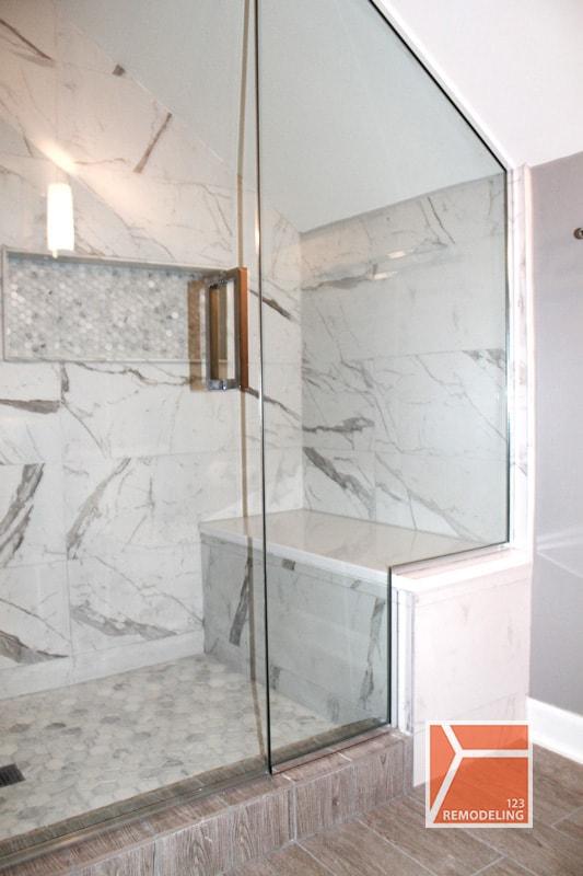 lincoln Park shower area bath remodeling