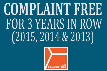 bbb complaint free 123 remodeling
