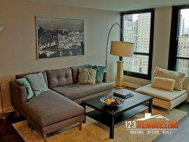 Condo Living Room Remodel – 1030 N. State St, Chicago, IL (Gold Coast)