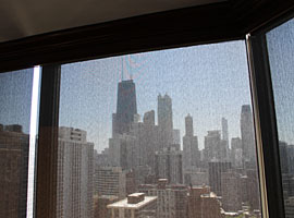 Hi-Rise Condo Serena Shades Installation- 1310 N Ritchie Court - Chicago, IL (Gold Coast)