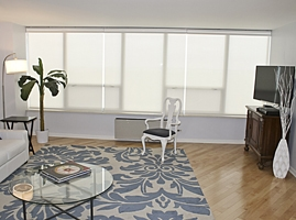 High-Rise Condo Remote Controlled Shades - 6101 N Sheridan - Chicago, IL (Edgewater)