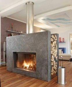 Double Sided Fireplace Can Cause Smoke Inside The Rooms Due To Lack Of Backing There Is A Good Chance Leaking Into Either