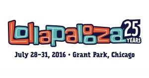 Lollapalooza 25th Year Anniversary Banner