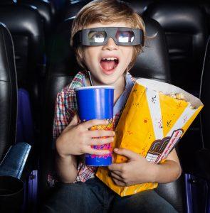 boy watching 3d movie