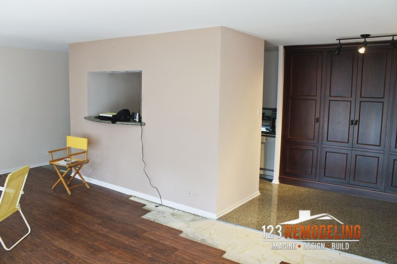 Before Living Room Remodel - 111 E Chestnut St, Chicago, IL (Magnificent Mile)