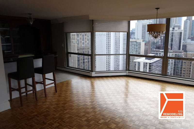 Before Condo Flooring Installation - 1310 N Ritchie Court, Chicago, IL (Gold Coast)
