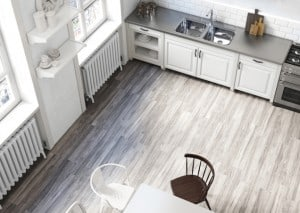 white wood-look tile