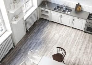 white wood-look tile