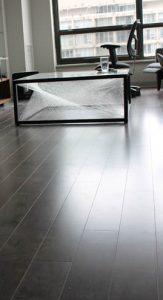 shiny wood-look tile
