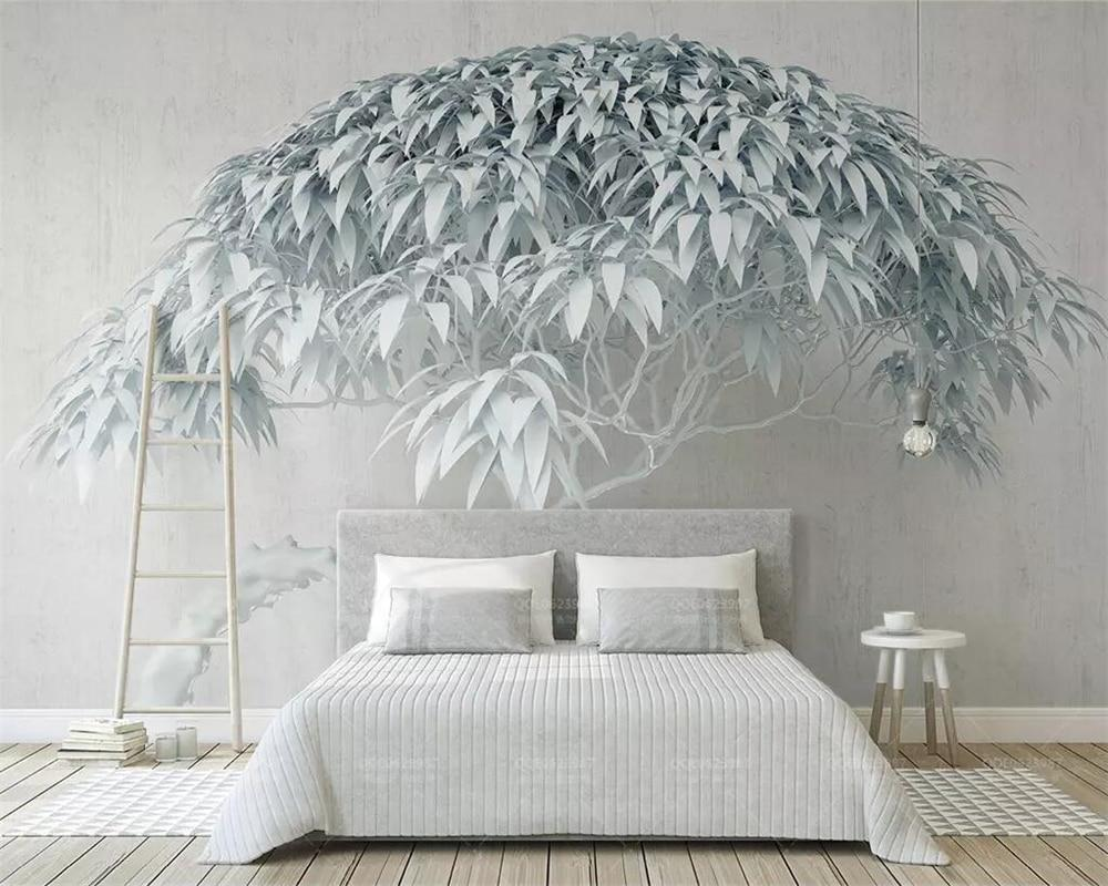3d wallpaper white tree