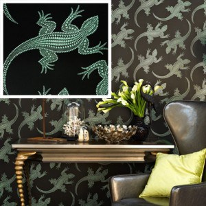 Komodo foil wallpaper by Osborne & Little