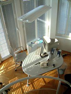 overhead of desk