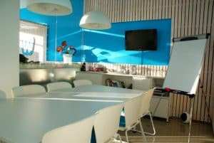 blue conference room
