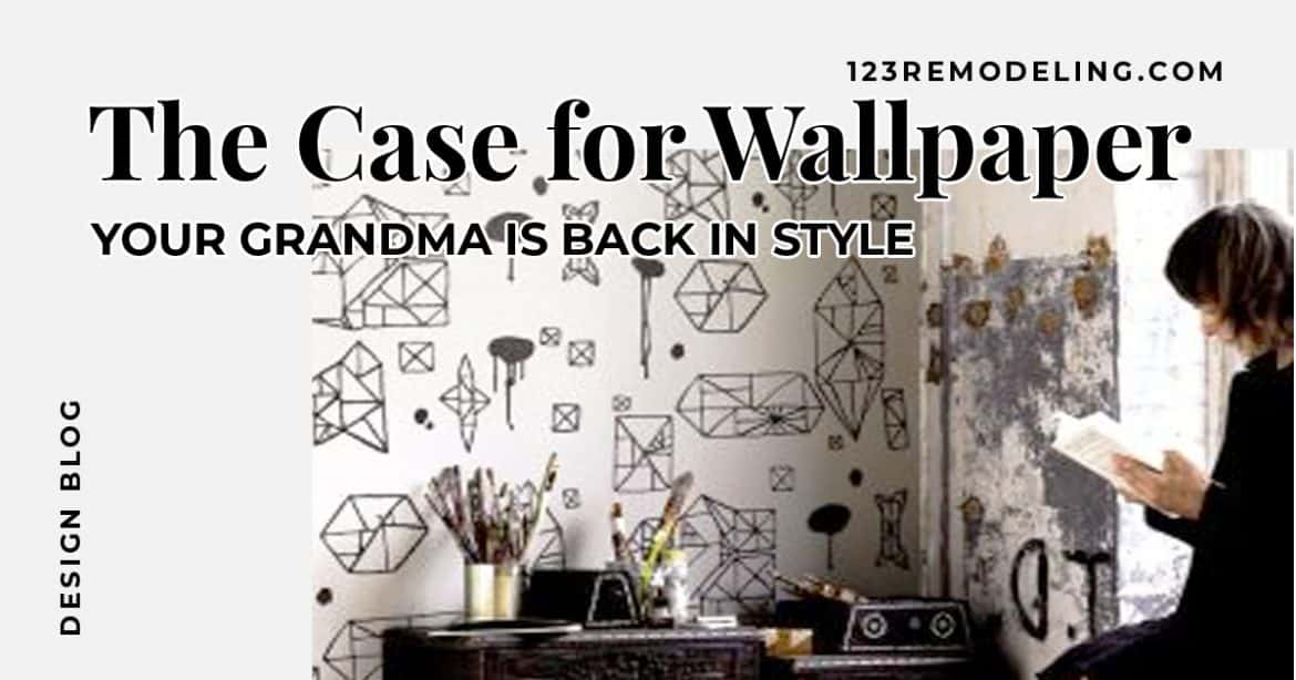 But Listen Wallpaper Is Making A Huge Comeback Even Our Friends At Hgtv Are Talking About It What Was Once An Outdated