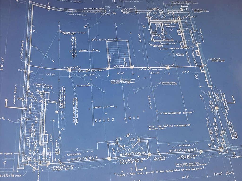 Architectural Blueprint Floor Plan for First Floor
