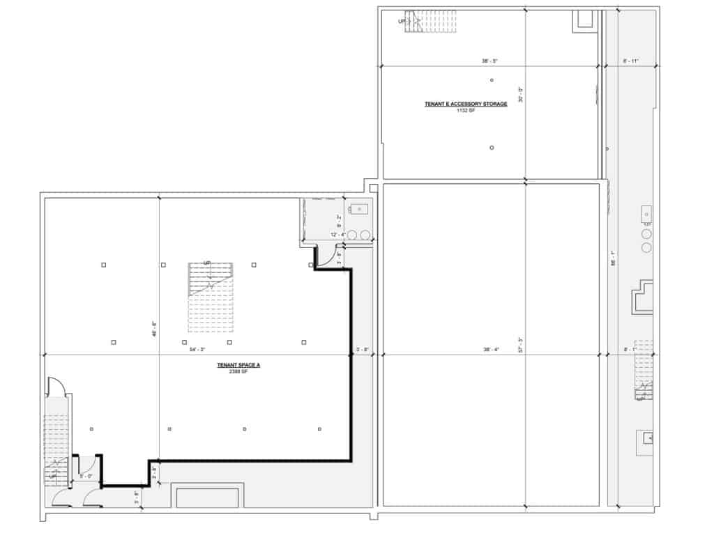 Architectural Floor Plan - Basement - 419-421 N. Main Street, Glen Ellyn, IL