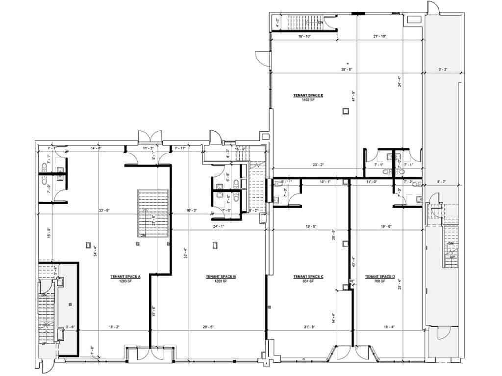 Architectural Floor Plan First Floor Residential Units 419