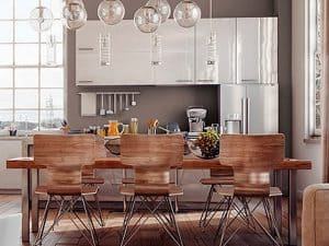 kitchen painted with Sherwin Williams Poised Taupe