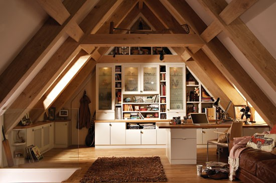 chicago attic home office design