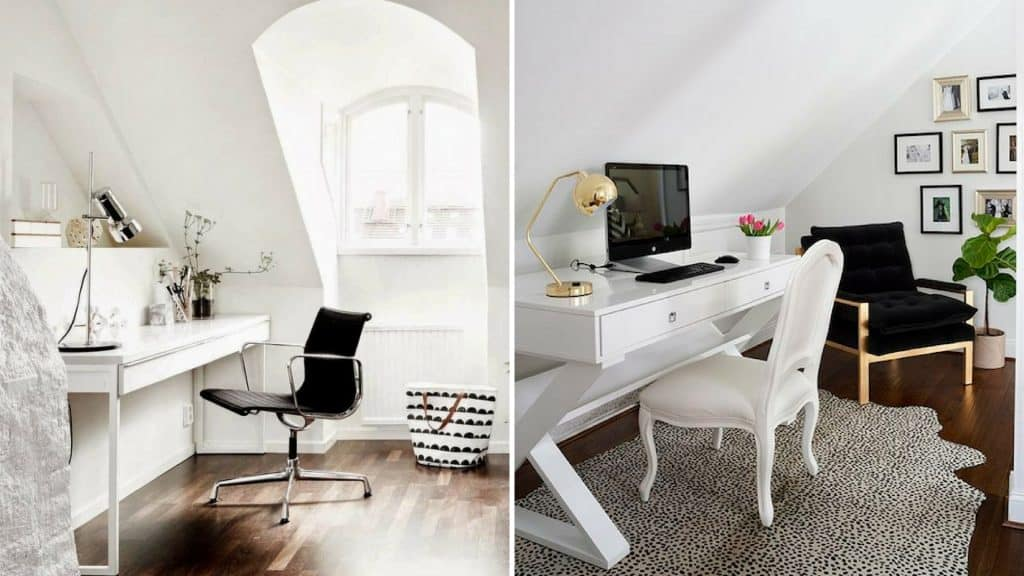 home office design with dormers