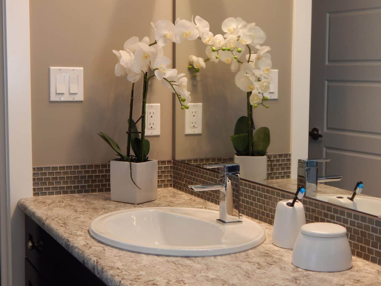 bath flower decor