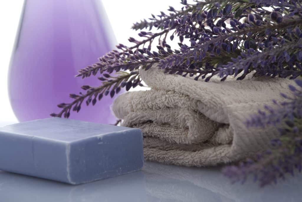 bath soap and towel