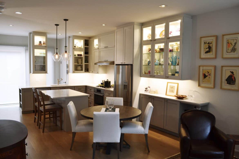 kitchen cabinets with big windows