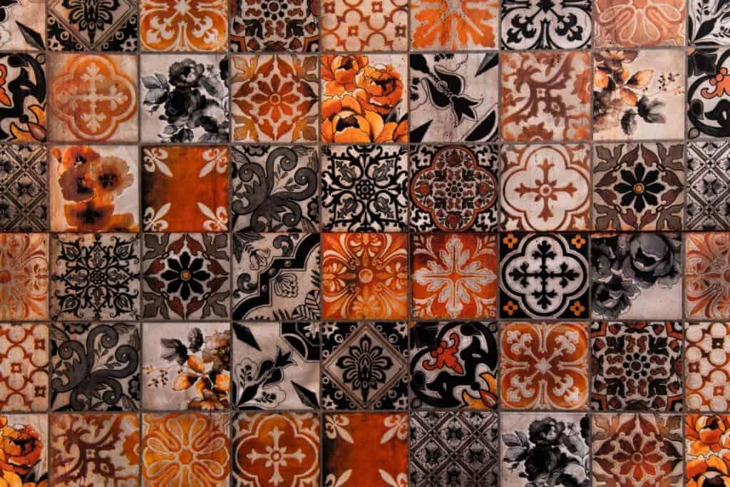 decorative floral Moroccan tiles