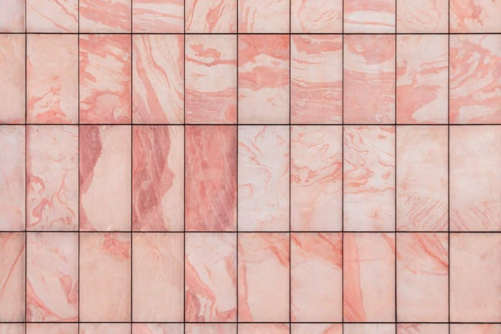 pink marble tiles