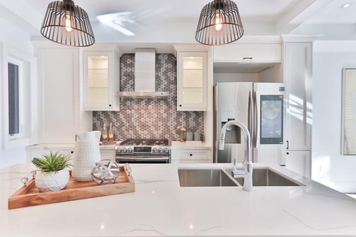 comfortable white kitchen