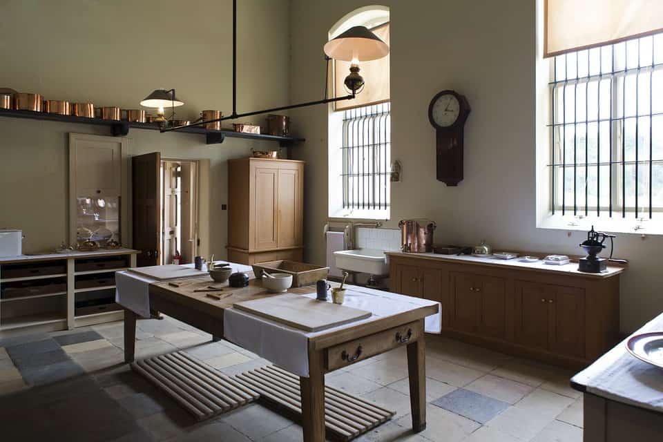 limestone tile kitchen flooring