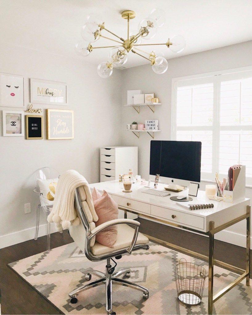 clean elegant home office